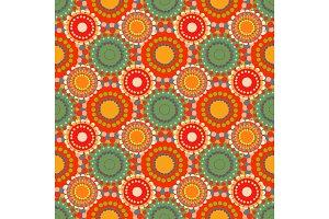 Seamless vintage retro pattern orange textile