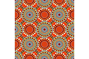 Seamless vintage retro pattern orange textile