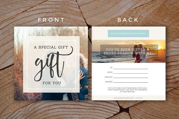 gift certificate template card templates creative market