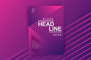 Line texture Brochure Cover Design