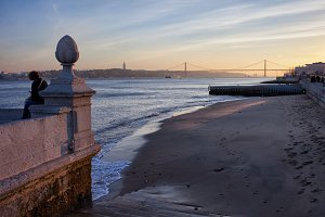 Tagus River Beach in Lisbon
