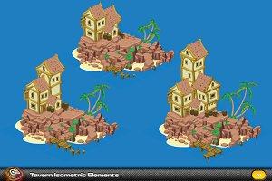 Tavern Isometric Elements