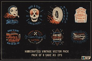 HAND CRAFTED VINTAGE VECTOR PACK