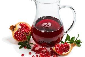 Jug of pomegranate juice