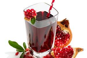 Freshly squeezed pomegranate juice
