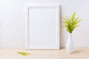 White frame mockup