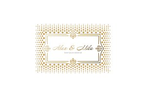 Business card. Vintage decorative elements.