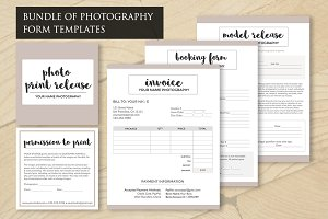 Photography Forms PSD Templates Set