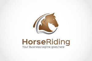 Horse Riding Logo Template