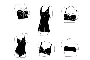 Set of women's lingerie, bras