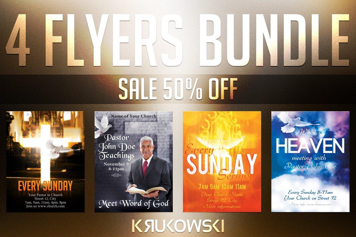 Church Religious Flyers Bundle Flyer Templates Creative Market