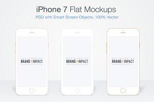 Flat iPhone 7 Mockup