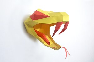 DIY Snake Head Trophy -3d papercraft