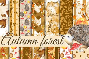Forest animals papers pack