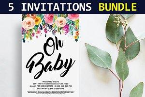 5 Wedding Invitations Bundle