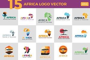 15 africa logo vector