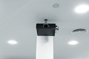 Multimedia projector on the ceiling
