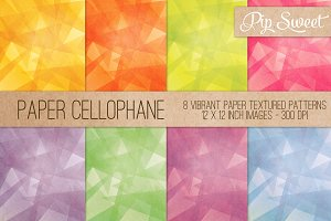 Paper Cellophane 8 Pattern Set