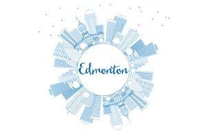 Outline Edmonton Skyline