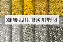 10 gold and silver glitter textures