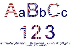 Patriotic American Alphabet