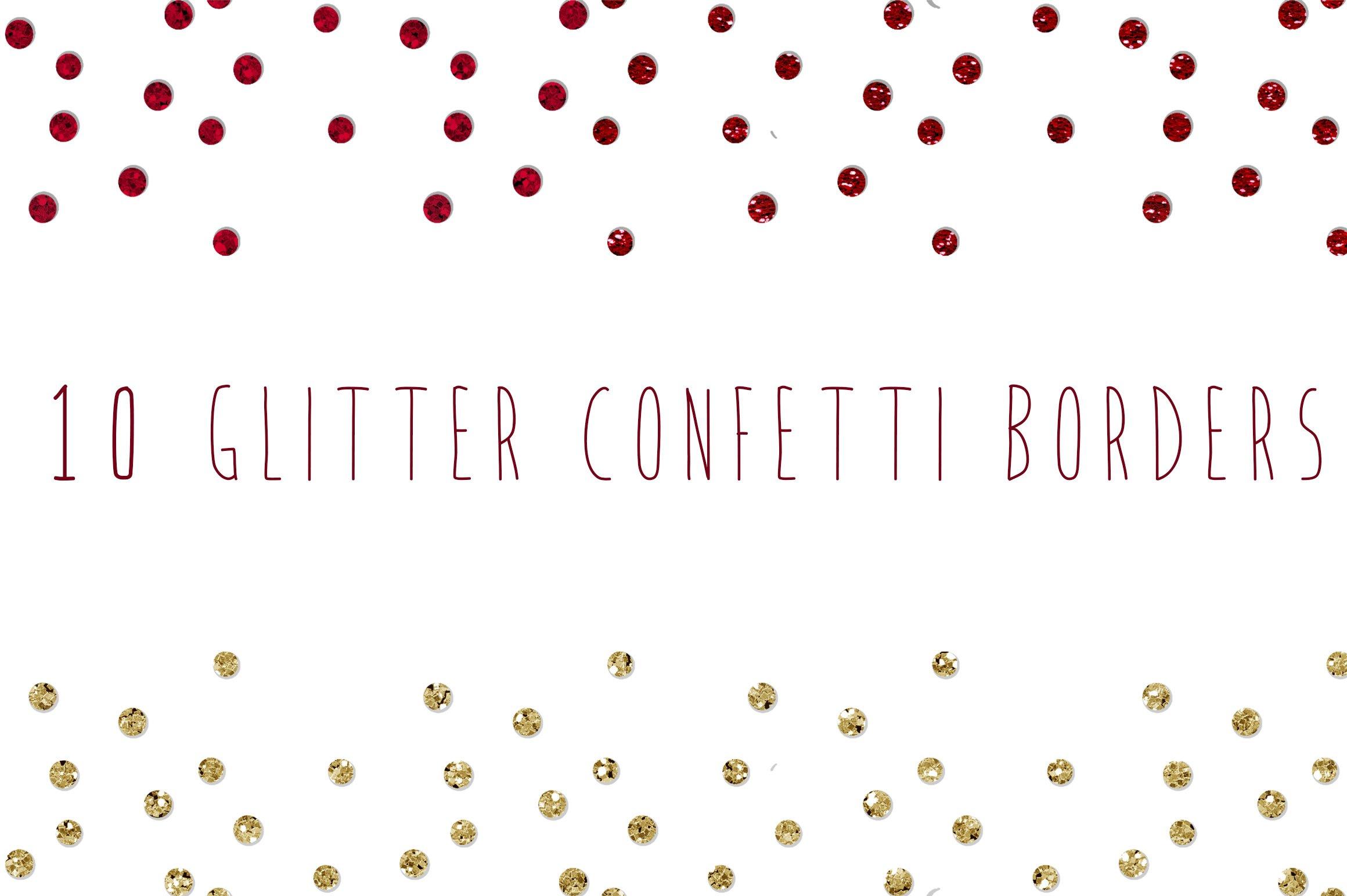 Glitter Confetti Borders Illustrations Creative Market