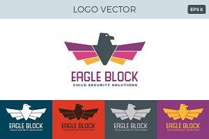 Eagle block Logo Vector