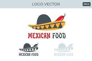 Mexican food Logo Vector