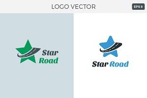 Star Road Logo Vector