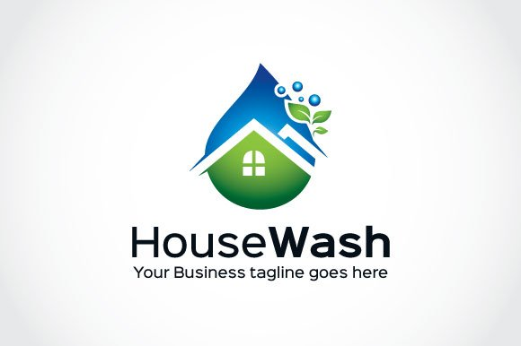 House wash logo template logo templates creative market wajeb Image collections