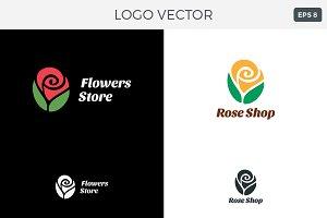 Flowers Shop Logo Vector