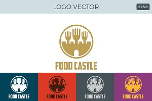 Food Castle Logo template