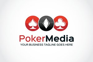 Poker Media Logo Template