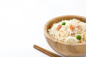 Fried chinese rice with vegetables