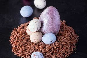 Traditional chocolate easter eggs