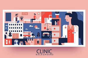 Clinic abstract background