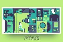 Photo studio production background