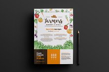 A4 Farmers Market Poster Template v2