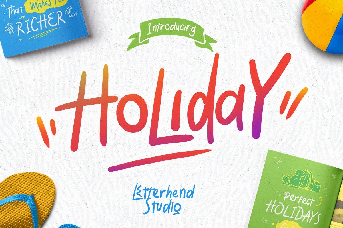 Holiday Font ~ Display Fonts ~ Creative Market
