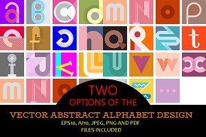 2 Options - Abstract Alphabet Design