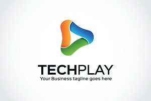 Tech play Logo Template