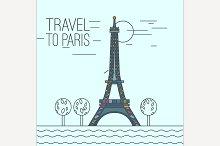 Travel to Paris Concept