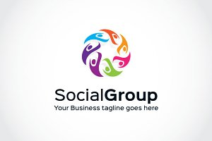 Social Group2  Logo Template