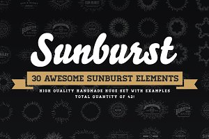 Awesome Sunburst Elements