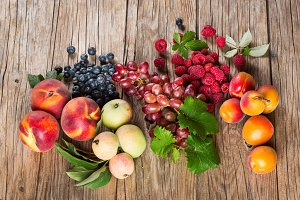 Organic fruits and berries