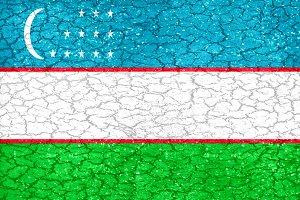 Uzbekistan Flag Pattern