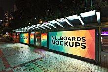 Billboard Mockup at Night #14