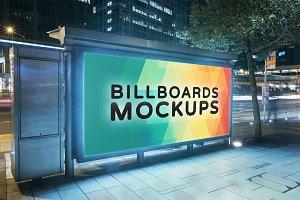 Billboard Mockup at Night #16