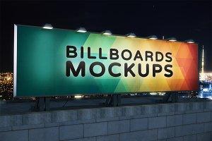 Billboard Mockup at Night #19