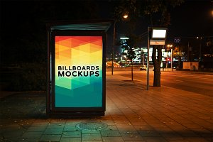 Billboard Mockup at Night #21